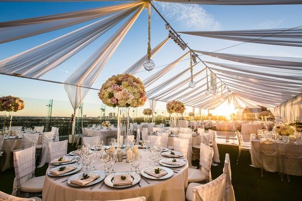 Rent Items From Event Planners to Set Up Wedding on Your Rooftop